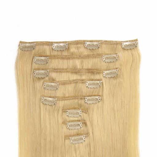 Clip in Extensions 60cm 160g Zeer Licht Blond 60-0